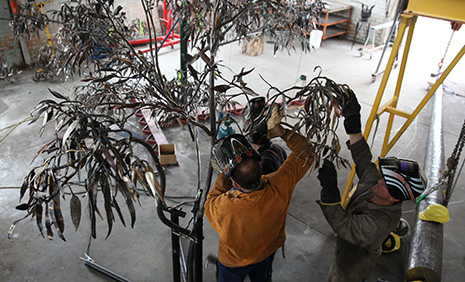 Welding the final branch